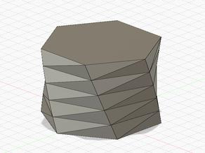 Low-poly hexagonal spiral vase