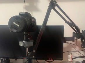 Adaptador para usar câmera em braço articulado de microfone