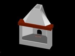 Diorama elements (fireplace)