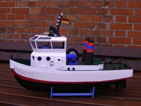 Boat,RC-Boat,RC-Schiff Hafen Schlepper Neu