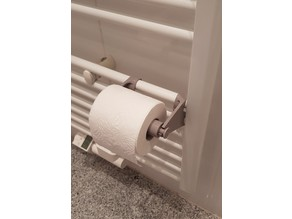 Toilet Paper Holder for Heater Attachment
