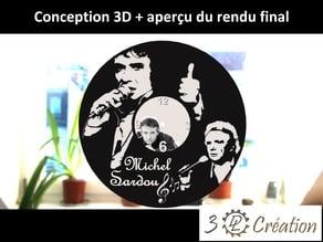 Déco disque vinyle - Horloge Michel SARDOU - Vinyl record