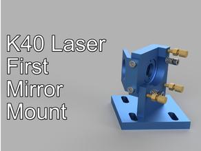 K40 Laser first 1st mirror mount