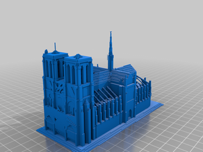 Pixelated Notre Dame Cathedral