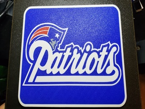 New England Patriots Sign Multi Material