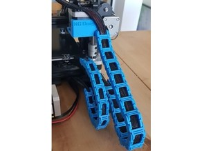 Ender 3 Cable Chain, no screws, no unplug cable