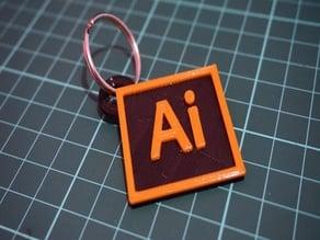 Adobe CC Illustrator Keychain