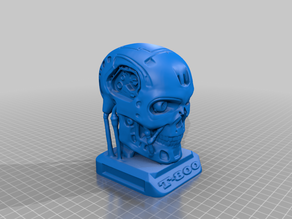 [IVI3D] Finer T800 Smooth Terminator Endoskull for Scaling