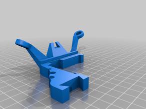 Strengthened Rolling Filament Guide part for Led Holder V2 for Anycubic I3 Mega
