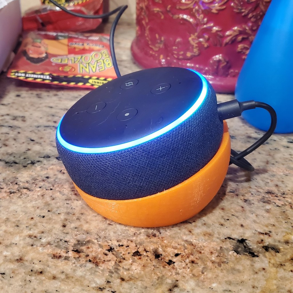 Echo Dot 3rd Gen Angled Hollowed Sphere Stand
