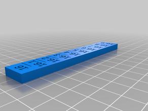 Ender tilted Z rod axis fix gauge ruler set 16-19.9 mm