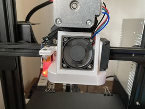 Satsana Ender 3 Fan Duct BlTouch and DirectDrive