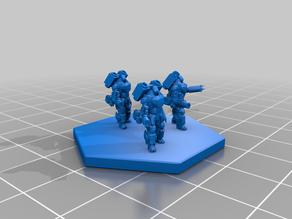 Battletech Longinus Battle Armor IF 6mm scale remix