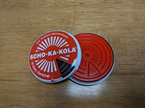 Scho-ka-kola Pillbox/Small Parts Organizer