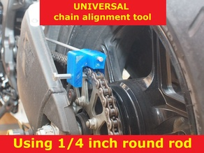 Universal motorcycle chain alignment tool