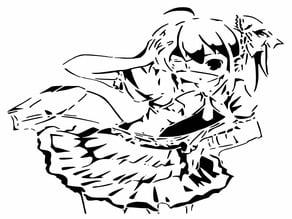 Rikka Takanashi stencil