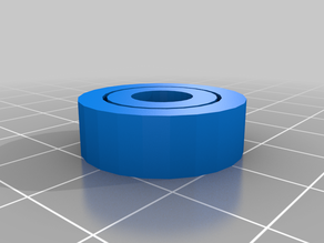 Functional printed ball bearing (608) - print in place