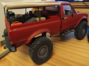 WPL C24 soft top frame with roof rack
