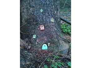 Elf Gnome House for Garden, Tree Stump House