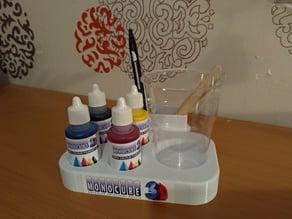 Resin dye organiser Monocure 3D / colour palette
