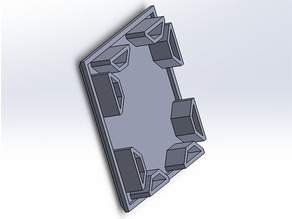 End Cap for Aluminum Extrusion 40 x 40 mm Geeetech A10