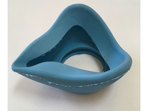 Accommodative DIY Covid Respirator Mask: Flexible Casted Silicone from 3D Printed Mold
