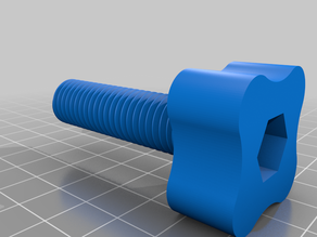 Hand turnable M14x50mm bolt