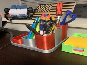 Modular Pen Pencil Holder Containers
