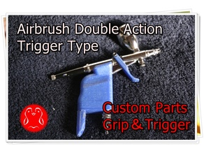 Custom Parts-Grip&Trigger/Divent [Airbrush Double Action Trigger Type]