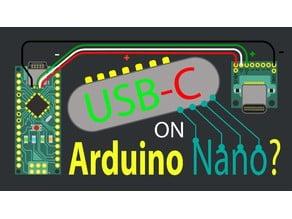 USB-C Breakout Adapter for Breadboard