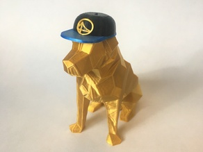 Low Poly Dog Wearing Hat