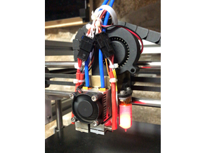 Hypercube Evolution Chimera mount with adjustable BLTouch and fan duct