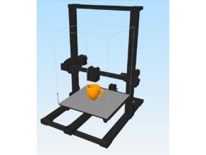 CR-10 Model for Machine Model in Slicers
