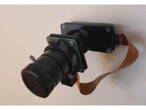 Raspberry Pi HQ Camera Ball and Socket Wall Mounted