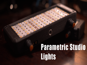 Parametric, Open Source LED Studio Light