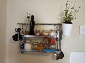Flowerpot Hanged On IKEA Spice Stand