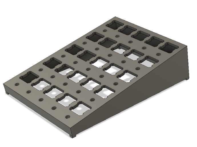 Mechanical keyboard switch 25 slots lube station