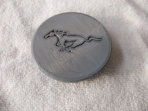 Mustang 2.5in Wheel Center Cap Hub Cap
