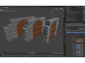 OpenForge Dungeon Stone Dungeon Sticks V3 (Set 1)