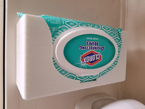 Clorox Wipes Holder - Wall Mount - With STEP file