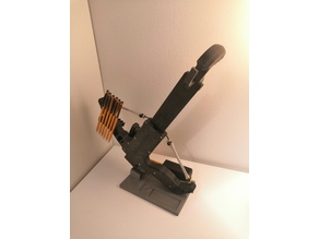 simple Stand for Sliding Legolini with handle hold by Jankito - Pump-Action Repeating Mini Bow