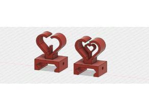 Heart Shape Iron Sight for Picatinny Rail