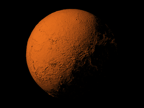 Venus with known topography scaled one in sixty million