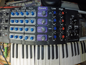 Synth reverb panel
