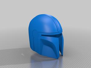 Mandalorian helmet split