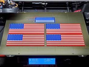 Remix: US Flag Refrigerator Magnet (Multicolor)