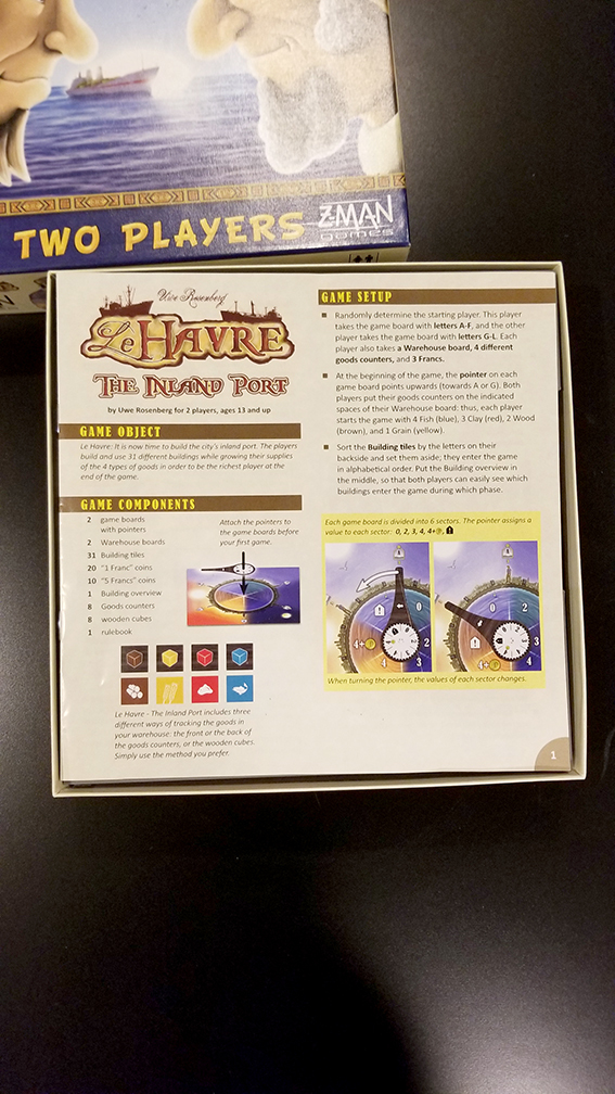 Le Havre: The Inland Port Insert/Organizer