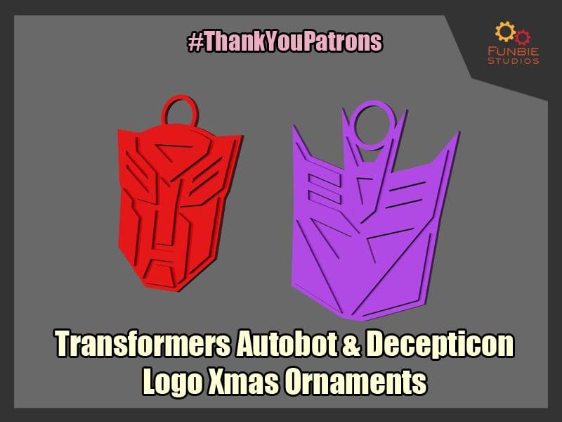 Transformers Logo Xmas Ornaments