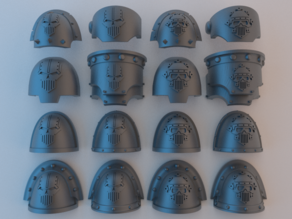 (Chaos) Space Marine Shoulder Pads - Iron Warriors