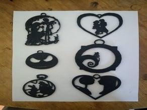 45 Disney Fan Art Silhouette Ornaments